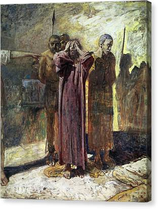 Golgotha, 1892-93 Oil On Canvas Canvas Print by Ge
