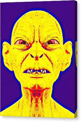 Gollum Alias In The Lord Of The Rings The Two Towers Canvas Print by Art Cinema Gallery