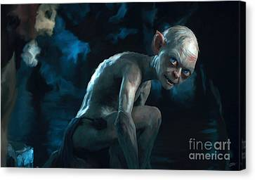 Gollum Canvas Print by Paul Tagliamonte
