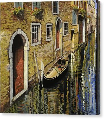 Gondola A Venezia Canvas Print by Guido Borelli