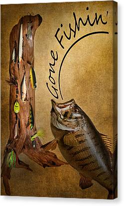 Gone Fishin Canvas Print by Bill Wakeley