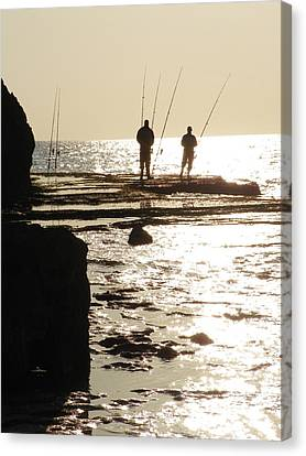 Gone Fishing Canvas Print by Noreen HaCohen