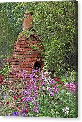 Gone To Pot - The Potter's Flower Garden Canvas Print by Gill Billington