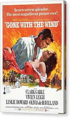 Gone With The Wind - 1939 Canvas Print by Georgia Fowler