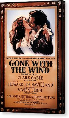 Gone With The Wind Movie Poster 1939 Canvas Print by Mountain Dreams