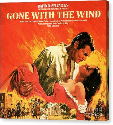 Gone With The Wind Canvas Print by Pg Reproductions