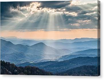 Good Afternoon From Max Patch Canvas Print by Rob Travis