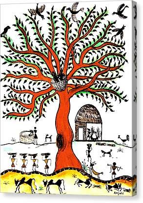 Good Morning Chirp Canvas Print by Anjali Vaidya