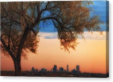 Good Morning Denver Canvas Print by Darren  White