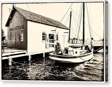 Good Old Oystering Times Canvas Print by George Oze