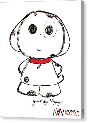 Goodbye Puppy Canvas Print by Monica Warhol