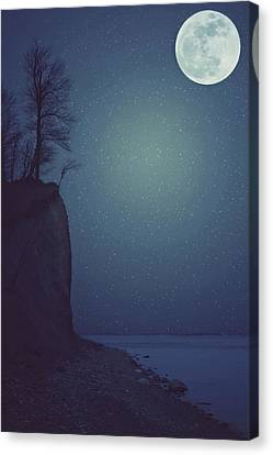 Goodnight Moon Canvas Print by Carrie Ann Grippo-Pike