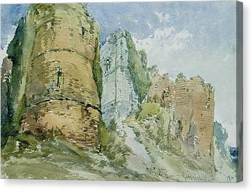 Goodrich Castle Canvas Print by William Callow