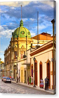 Gorgeous Streets Of Oaxaca Mexico Canvas Print by Mark E Tisdale