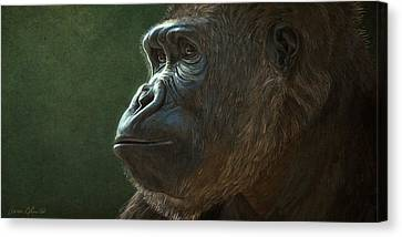 Gorilla Canvas Print by Aaron Blaise
