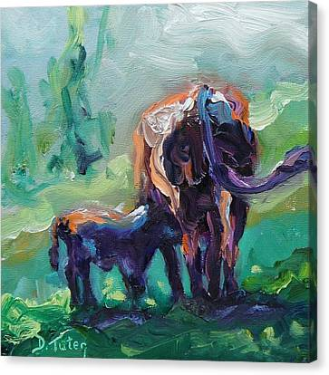 Got Milk Canvas Print by Donna Tuten
