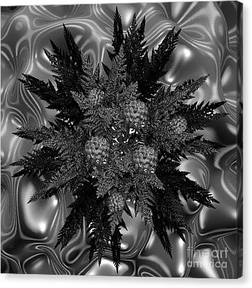 Goth Funeral Wreath Canvas Print by First Star Art