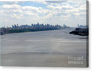 Gotham On The Hudson Canvas Print by David Bearden