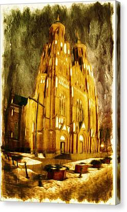 Gothic Cathedral Canvas Print by Jaroslaw Grudzinski
