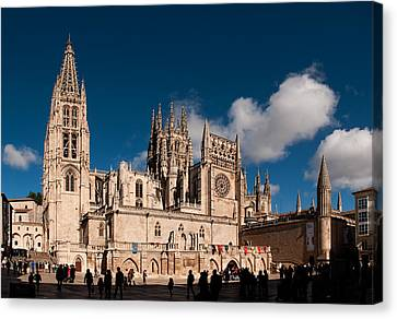 Gothic Cathedral Of Burgos Canvas Print by Weston Westmoreland