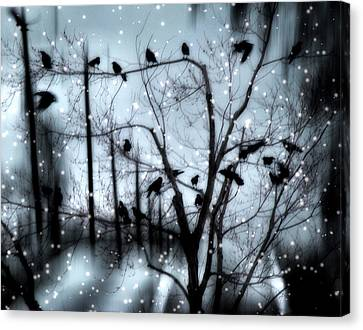 Gothic Snow Storm Canvas Print by Gothicolors Donna Snyder