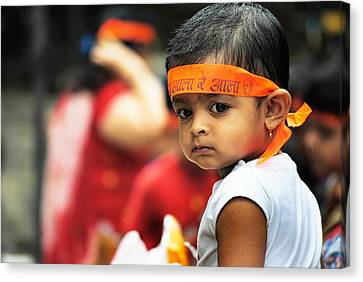 Govinda Kid Canvas Print by Money Sharma