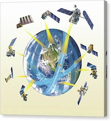 Gpm Satellite Constellation Canvas Print by Nasa/goddard