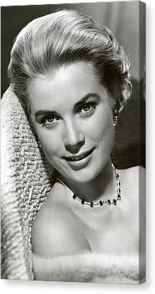 Grace Kelly Smiles Canvas Print by Retro Images Archive