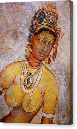 Graceful Apsara. Sigiriya Cave Painting Canvas Print by Jenny Rainbow