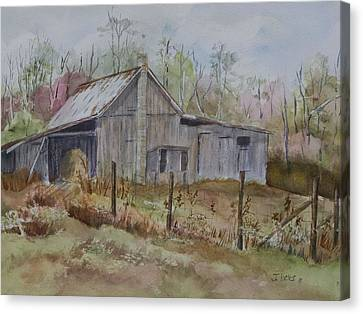 Grady's Barn Canvas Print by Janet Felts