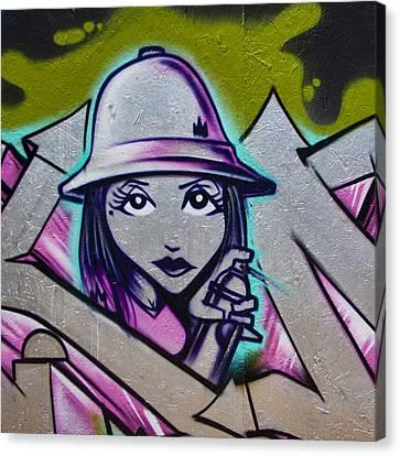 Graffiti Detail Canvas Print by Carol Leigh