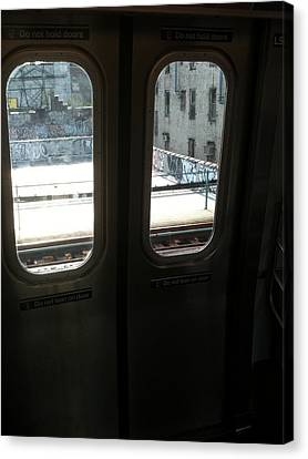 Graffiti From Subway Train Canvas Print by Mieczyslaw Rudek