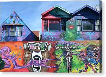 Graffiti House Canvas Print by Fraida Gutovich