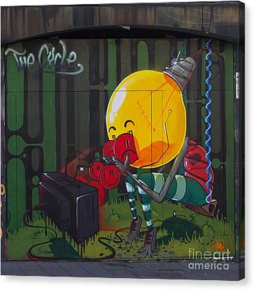 Graffiti Stokes Croft Canvas Print by Brian Roscorla