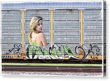 Graffiti - Tinkerbell Canvas Print by Graffiti Girl
