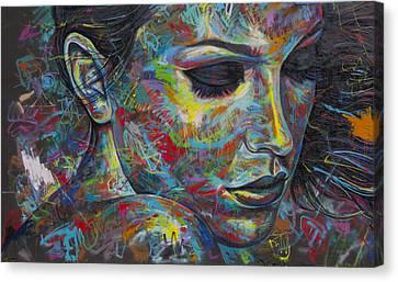 Grafitti Portrait Canvas Print by Austin Whisnant
