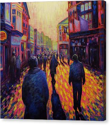 Grafton Street Dublin Canvas Print by John  Nolan