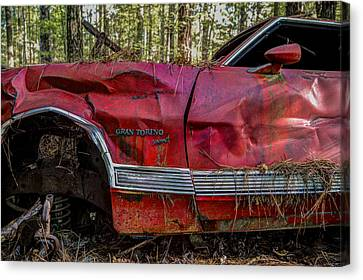 Gran Torino Canvas Print by Debra and Dave Vanderlaan