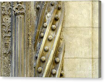 Granada Cathedral Doors And Other Details Canvas Print by Guido Montanes Castillo