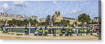 Grand Bassin Rond Canvas Print by Liz Leyden