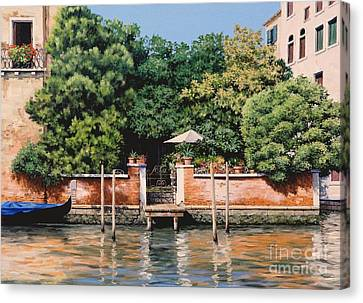 Grand Canal Oasis Canvas Print by Michael Swanson