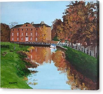 Grand Canal Robertstowm Canvas Print by Tony Gunning