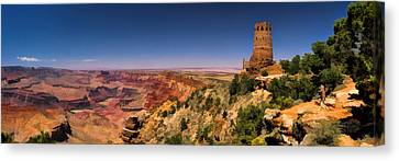 Grand Canyon Desert View Watchtower Panorama Canvas Print by Christopher Arndt