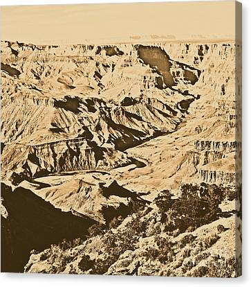 Grand Canyon Eastern Sunset View Square Rustic Canvas Print by Shawn O'Brien