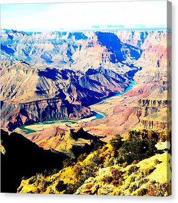Grand Canyon Eastern Sunset View Square Vivid Canvas Print by Shawn O'Brien