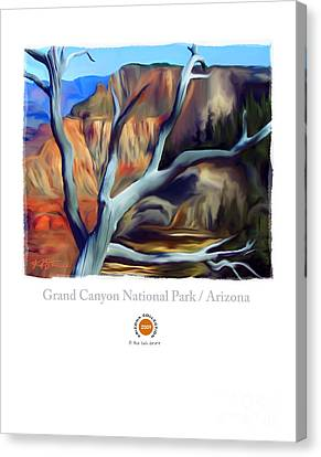 Grand Canyon National Park Az Canvas Print by Bob Salo