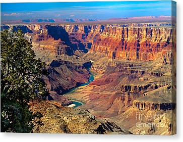 Colorado River Canvas Print featuring the photograph Grand Canyon Sunset by Robert Bales