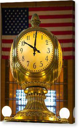 Grand Central Clock Canvas Print by Inge Johnsson