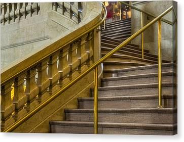 Grand Central Terminal Staircase Canvas Print by Susan Candelario