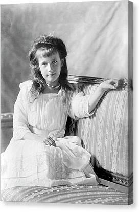 Grand Duchess Anastasia Of Russia Canvas Print by Library Of Congress